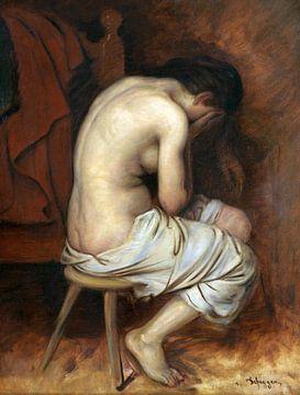 Halbakt, FRANZ VON DEFREGGER, 1880 von Atelier Liesjes