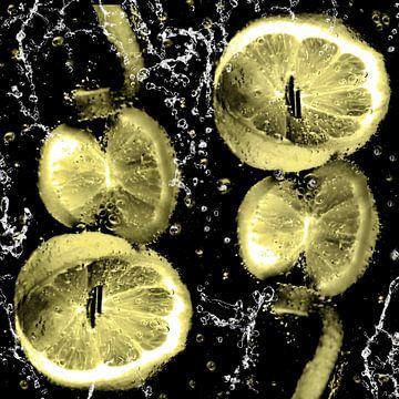 im Wasserglas - Zitronen am Spiess von Christine Nöhmeier