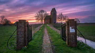 Die Mauritius-Kirche in Marsum, Groningen, Niederlande von Henk Meijer Photography