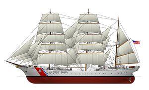 USCGC Eagle sur