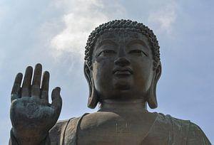 Beeld van een Thaise Boeddha met swastika