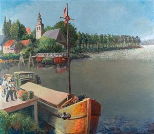 Frachtschiffe entlang des Kais von Galerie Ringoot