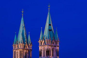 Naumburg kathedraal in de avond van Martin Wasilewski