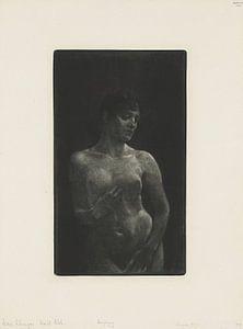 Weiblicher Akt in Schabkunst, Max Klinger - 1891