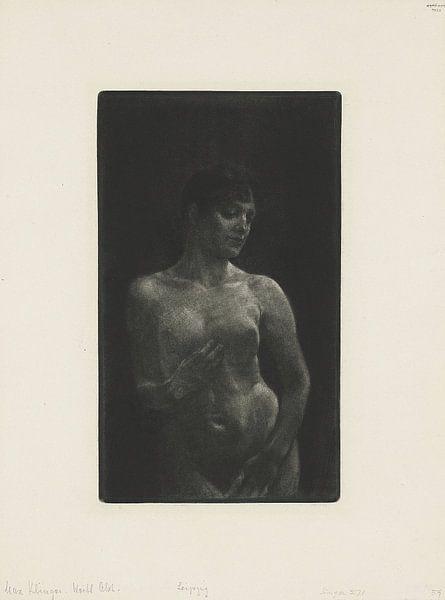 Weiblicher Akt in Schabkunst, Max Klinger - 1891 von Atelier Liesjes