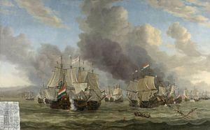VOC Zeeslag schilderij: Slag bij Livorno, Reinier Nooms, 1653 - 1664