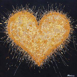 Gouden Hart van Vrolijk Schilderij