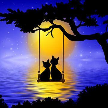 Romantische katten van Marion Tenbergen