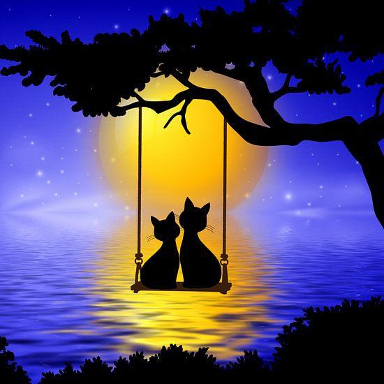 Romantische Katzen von Marion Tenbergen