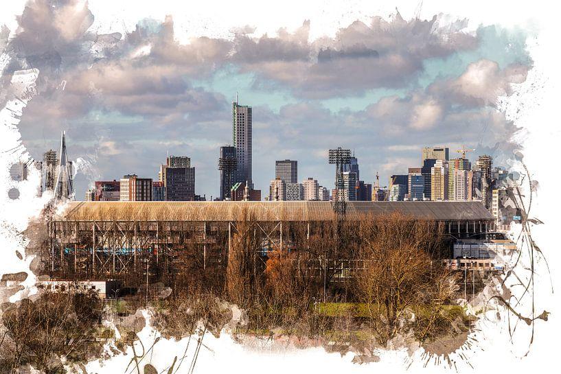 "Feyenoord ART Rotterdam Stadion ""De Kuip"" Skyline van MS Fotografie | Marc van der Stelt"