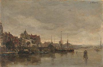 Les Schreierstoren avec le pont sur la Gelderse Kade à Amsterdam, Jacob Maris