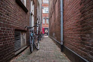 Haarlem, een steegje met Graffiti van Cilia Brandts