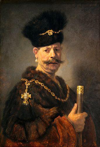 Rembrandt van Rijn Een Poolse edelman van Rembrandt van Rijn