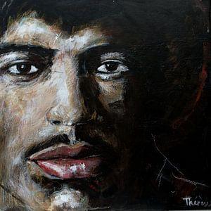 Porträt von Jimi Hendrix.