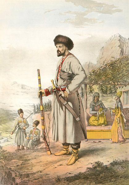 Turkije Turkey Türkiye man uit Armenie 1862, krijgsman