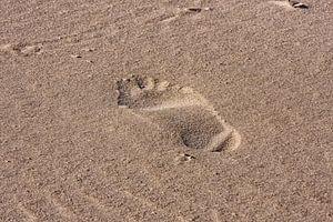 Voetstap op het strand