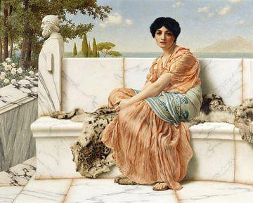 John William Godward, Kontemplation - oder in den Tagen des Sappho - 1904 von Atelier Liesjes