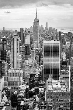 Manhattan du haut du rocher sur John van den Heuvel