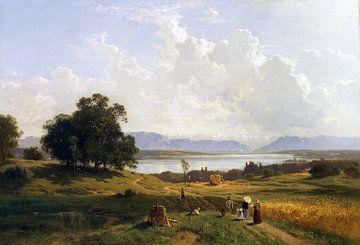 Starnberger See von Pöcking aus gesehen, ADOLF HEINRICH LIER, 1856-1863 von Atelier Liesjes