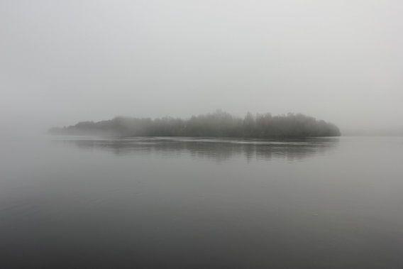 Ön island, Umeå (Sweden) in fog