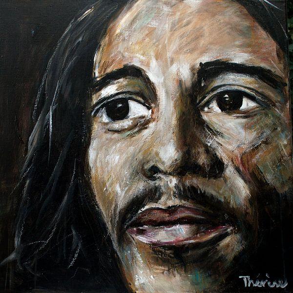 Porträt von Bob Marley. von Therese Brals