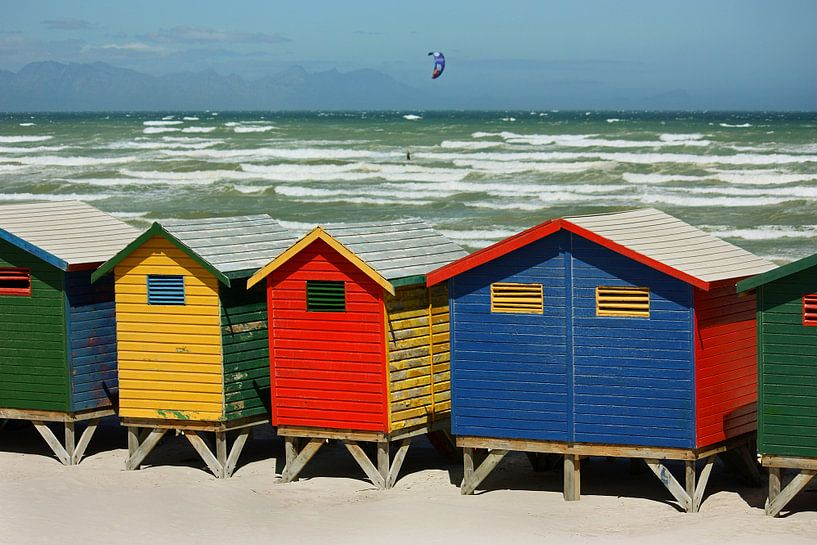 southafrica ... muizenberg beach huts II van Meleah Fotografie