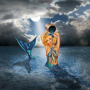 De badende zeemeermin