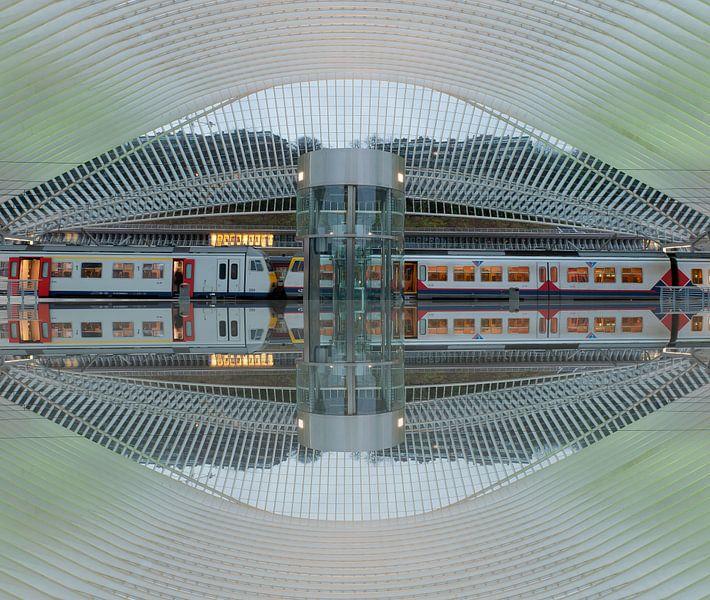 Trainstation Liege(Luik) van Brian Morgan