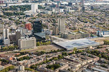 Luftaufnahme Rotterdamer Stadtzentrum von Guido Pijper