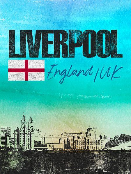 Liverpool Engeland van Printed Artings
