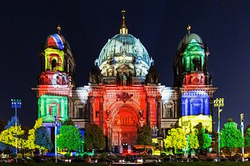 Berlijnse kathedraal verlicht van Frank Herrmann