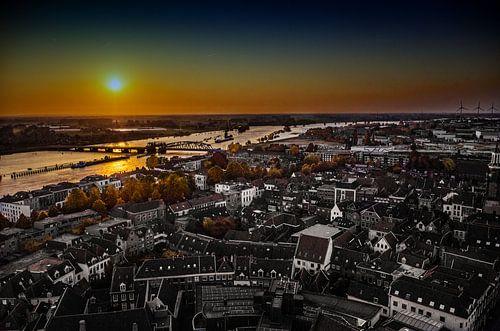zonsondergang zutphen von Wim de Vos