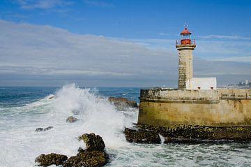 Vuurtoren van Felgueiras, Porto, Portugal van hans scholte