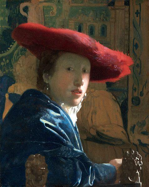 Johannes Vermeer. Meisje met de rode hoed van 1000 Schilderijen
