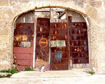 Rostige Türen in verlassener Tonnara von Jadzia Klimkiewicz