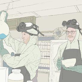 Breaking bad cooking van poportret posters