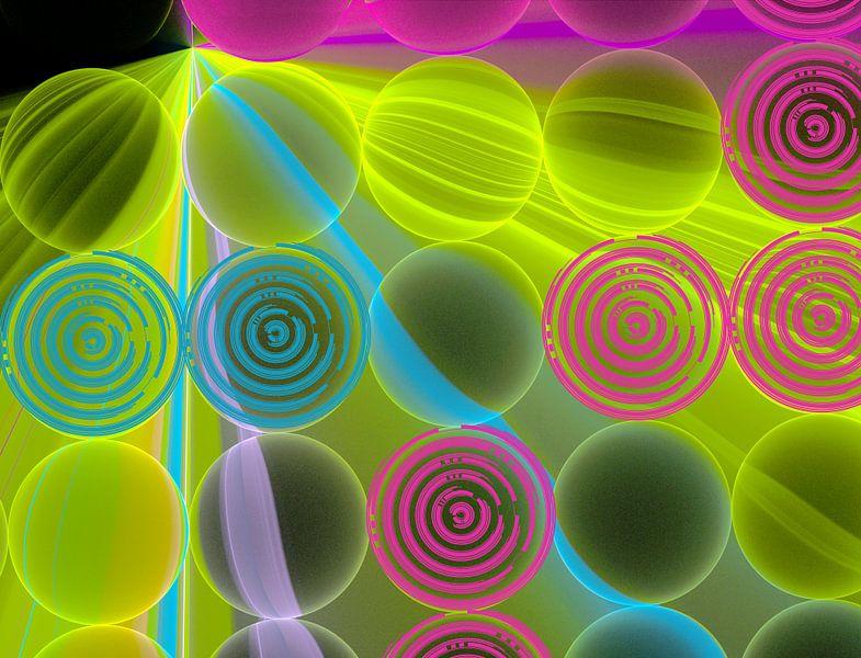 Neon dots van Rosi Lorz