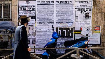 Ultraorthodoxe joodse man in Jeruzalem van Jessica Lokker