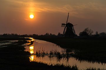 Ryptsjerk zonsondergang van Sidney Portier