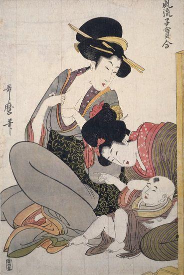 Chichi] = [About to breastfeed], Kitagawa, Utamaro (1753?-1806), (Artist), Date Created: ca. 1793-ca