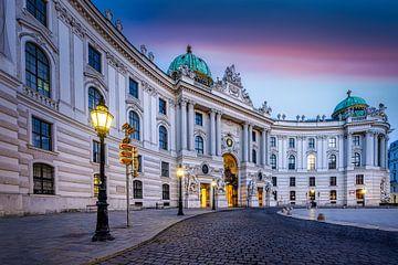 Hofburg in Wenen gezien vanaf het Michaelerplein (Michaelerplatz)