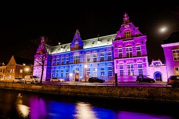 Caserne illuminée de Quintus à Kampen sur Fotografiecor .nl