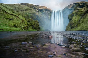 Skógafoss waterval, Iceland van Sander Schraepen