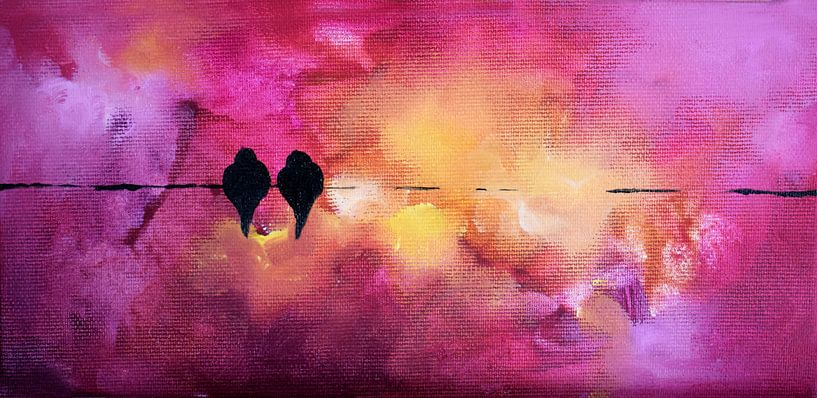 Valentine's Birds 14 van Maria Kitano