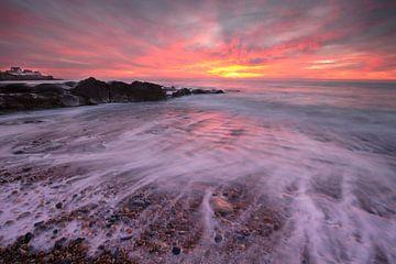 zonsondergang op het strand van Audresselles - France van Fotografie Krist / Top Foto Vlaanderen