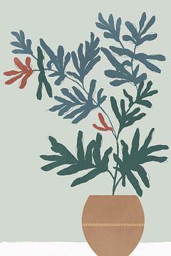 Summer Planter II, Isabelle Z  van PI Creative Art