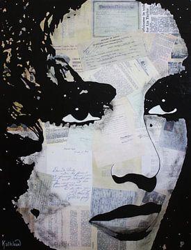 Elizabeth Taylor - Persen van Kathleen Artist Fine Art