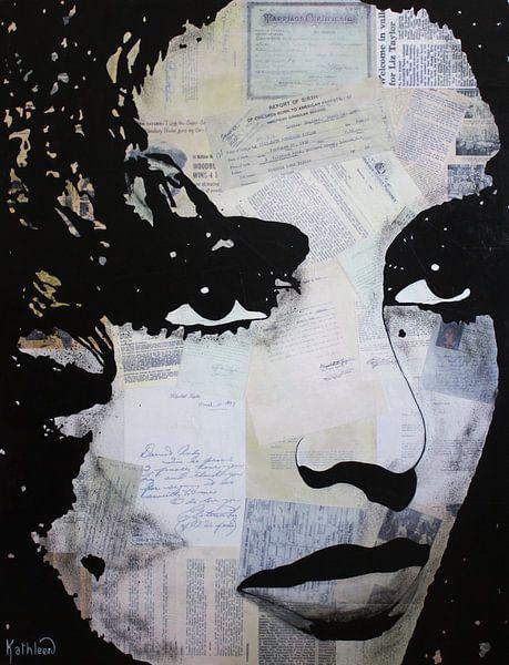 Elizabeth Taylor - Pressen von Kathleen Artist Fine Art