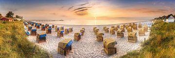 Zachte zonsopgang aan het strand van Scharbeutz aan de Oostzee van Fine Art Fotografie