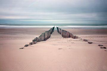 Posten am Strand von Domburg von Robin Jongerden
